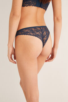 Womensecret Lace Brazilian panty blue