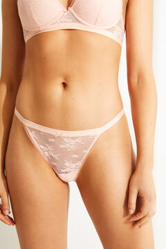 Womensecret String dentelle rose rouge