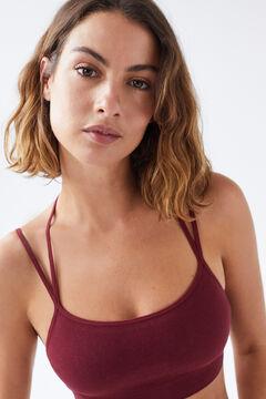 Womensecret Top seamless burdeos sostenible rojo