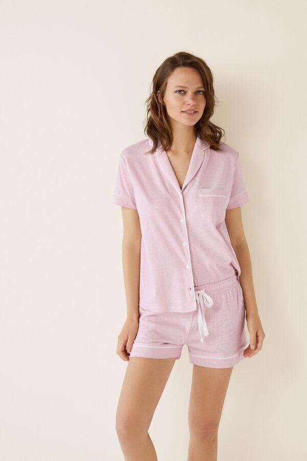 258a9e3e88 Short white floral cotton pyjamas. €24.99 €16.99. Womensecret Pijama  camisero corto beige
