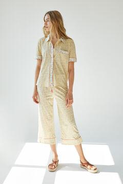 Womensecret Organic cotton leaves classic capri pyjamas printed