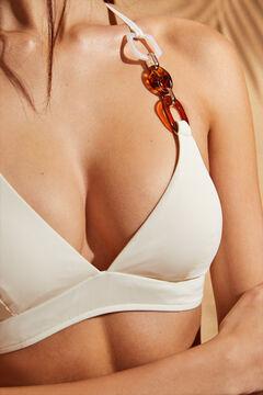 Womensecret White halterneck bikini top white
