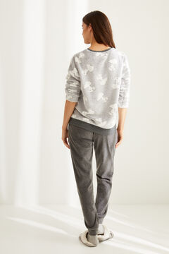 Womensecret Long grey fleece Snoopy pyjamas  grey