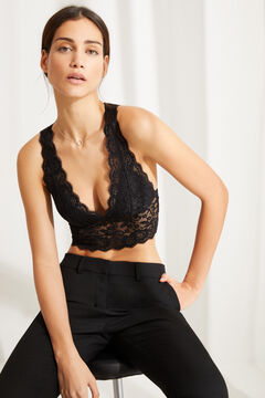 Womensecret Black lace bralette black