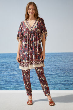 Womensecret Ethnic print camisole white