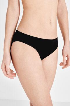 Womensecret 3 cotton classic panties pack black