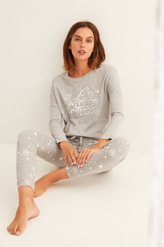 Womensecret Long grey cotton pyjamas  pink