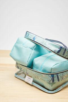 Womensecret 3er-Pack Kosmetiktaschen Coordonné Blau