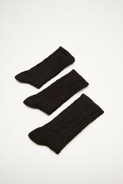 Womensecret Pack of 3 high cut socks black