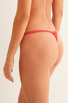 Womensecret String coton message rouge bordeaux