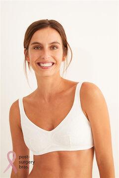 Womensecret Sujetador de algodón y encaje Post-Surgery beige
