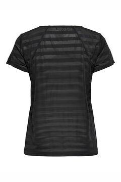 Womensecret Camiseta entrenamiento rayas negro