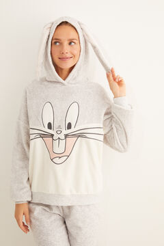 Womensecret Long fleece Bugs Bunny pyjamas grey