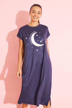Womensecret Midi blue moon nightgown  blue