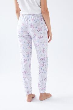 Womensecret Long white organic cotton trousers grey