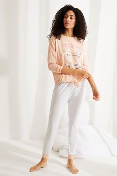 Womensecret Pyjama long coton Snoopy rouge