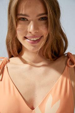 Womensecret Maillot de bain décolleté V orange Copa Cabana rouge