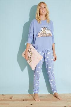 Womensecret Long blue cotton pyjamas Moderna de Pueblo blue