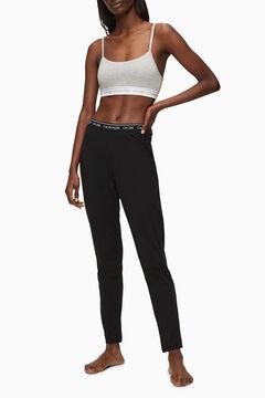 Womensecret Pantalón de algodón con cinturilla elástica de Calvin Klein negro