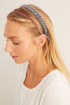 Womensecret Pair of braided headbands white