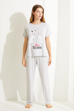 Womensecret Striped cotton 101 Dalmatians long pyjamas grey