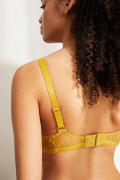 Womensecret BEAUTIFUL Sujetador clásico relleno encaje amarillo verde