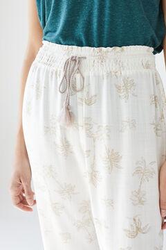 Womensecret Palm tree long trousers nude