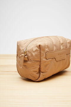 Womensecret Small quilted vanity case nude