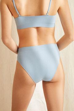 Womensecret Culotte classique haute sans coutures bleue bleu