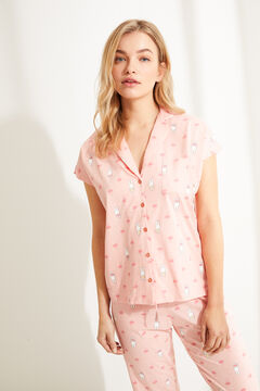 Womensecret Pink Miffy classic long pyjamas pink