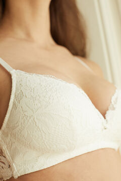 Womensecret LOVELY White lace triangle bra white