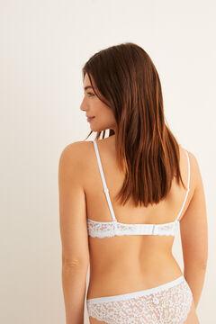 Womensecret Sujetador push up guipur blanco