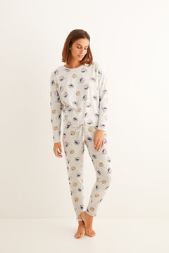 Womensecret Long cotton Cookie Monster pyjamas gris