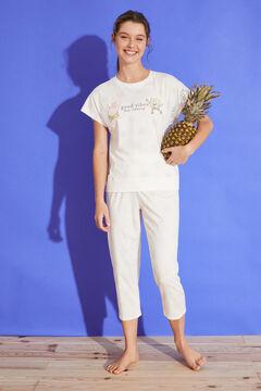 Womensecret Long polka-dot 100% cotton SpongeBob pyjamas nude