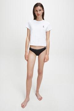 Womensecret Camiseta de manga corta de algodón con logotipo de Calvin Klein blanco