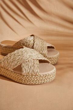 Womensecret Gold platform sandal nude