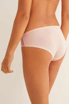 Womensecret Cotton and pink lace boyshort panty #idocare pink