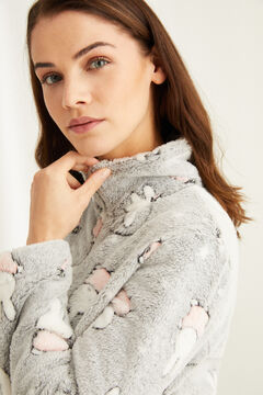 Womensecret Miffy long-sleeved fleece robe grey