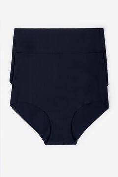 Womensecret Pack de 2 cuecas altas preto