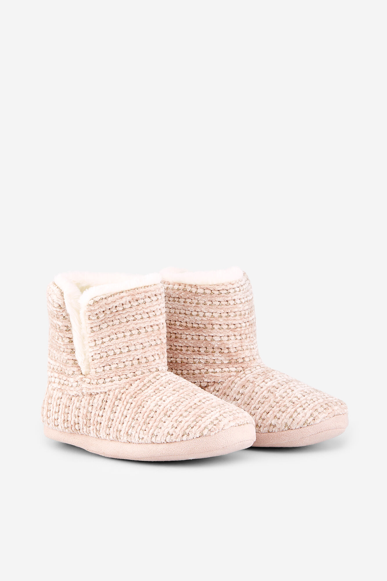 3a18555f71 Chenille ankle boot slippers