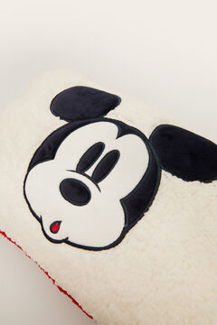 Womensecret Faux shearling Mickey cushion beige