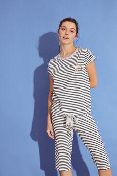Womensecret Long striped 100% cotton SpongeBob pyjamas  beige