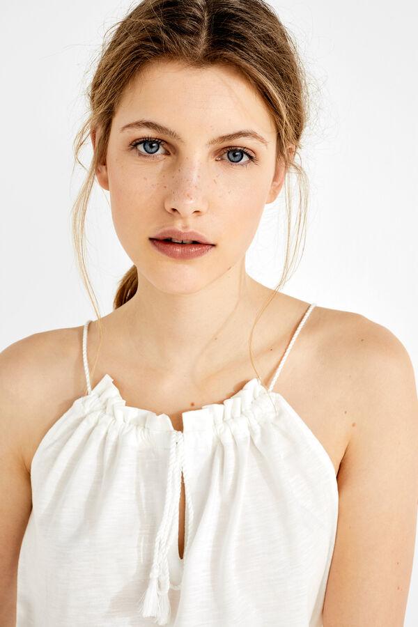 Womensecret Top halter de algodón beige. Shop now!