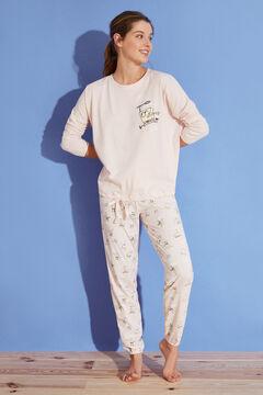 Womensecret Long pink 100% cotton SpongeBob pyjamas pink