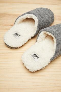 Womensecret Zapatillas destalonadas zueco gris gris