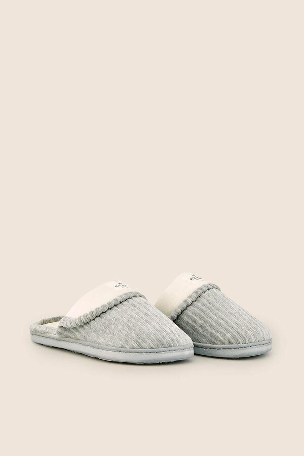 suave y ligero diseño profesional 50-70% de descuento Zapatillas casa con textura   Zapatillas   Women'secret