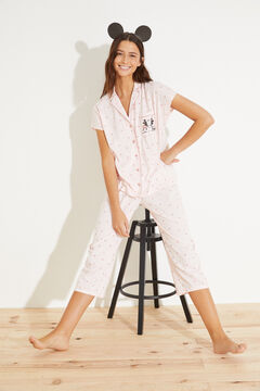 Womensecret Classic cotton capri pyjamas pink