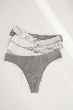 Womensecret 7-pack grey Brazilian panties grey