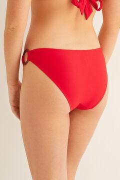 Womensecret Culotte bikini classique anneaux rouge
