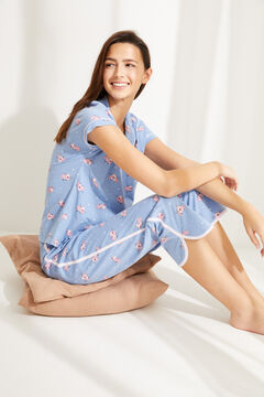 Womensecret Pijama camisero Pantera Rosa azul